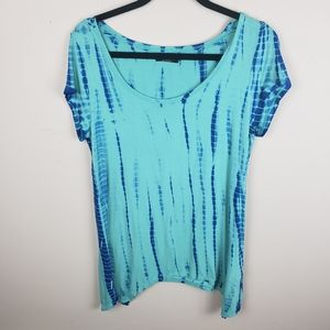 ✿❀ Max Jeans Blue Tie-Dye V-Neck Tee  ❀✿
